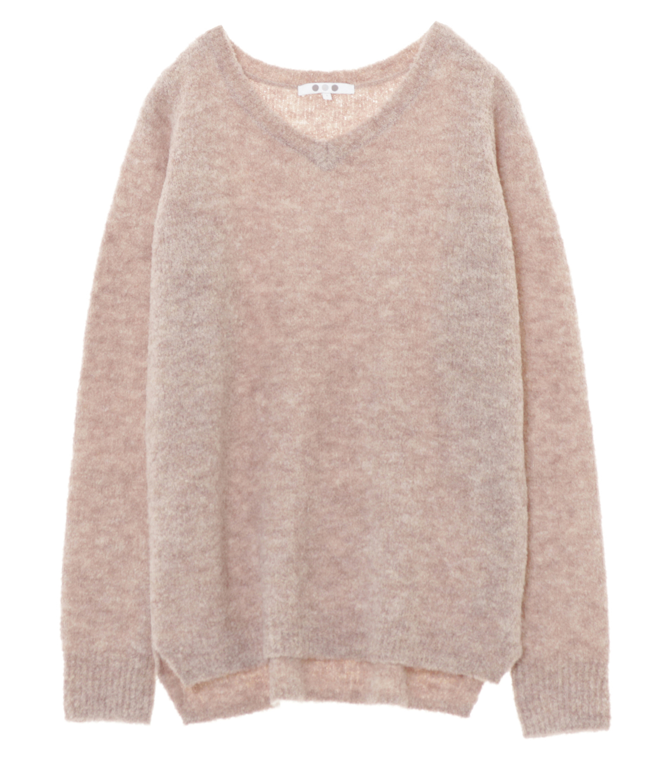 alpaca mixed boucle v neck pull 詳細画像 beige 1