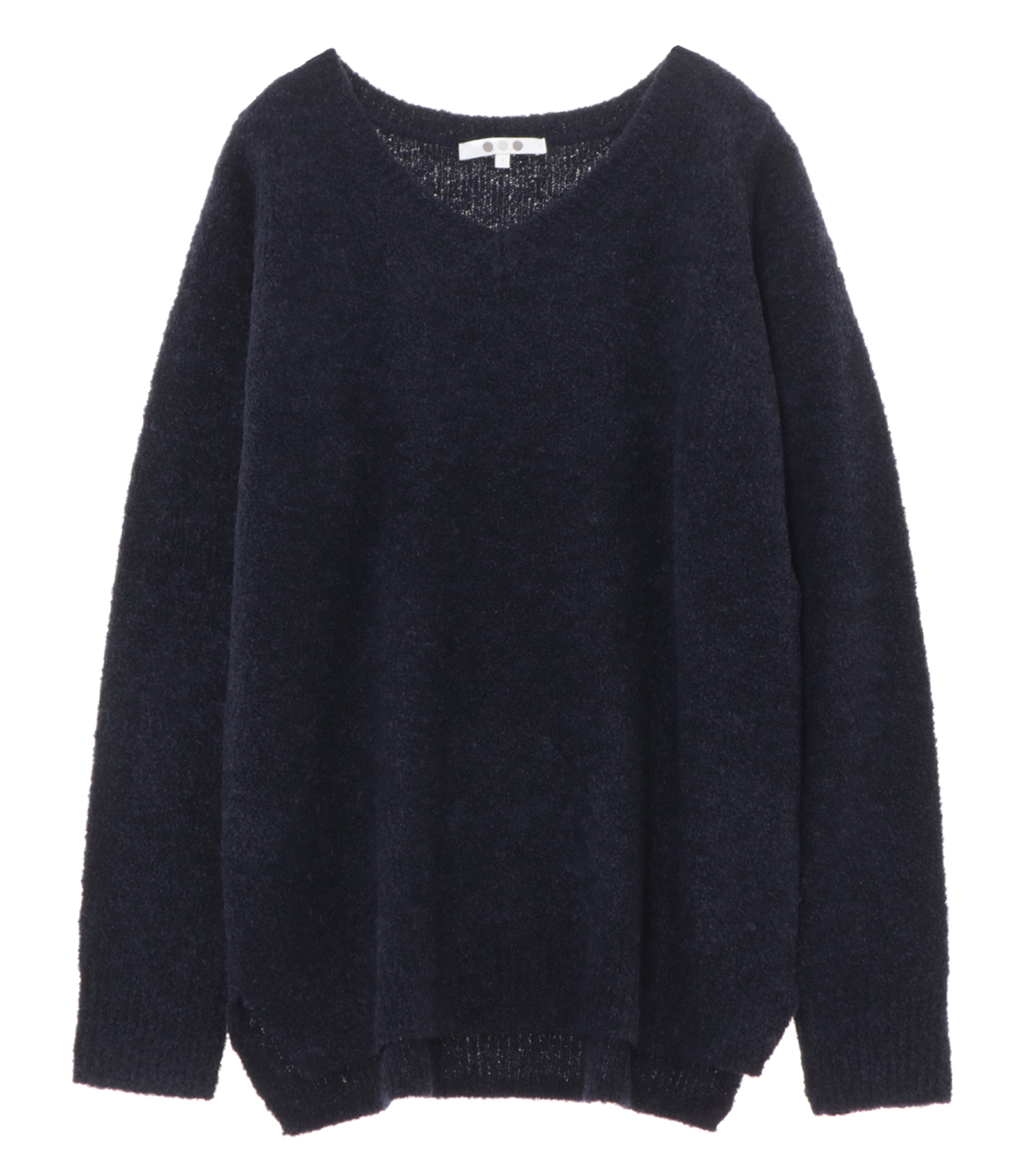 alpaca mixed boucle v neck pull 詳細画像 navy 1