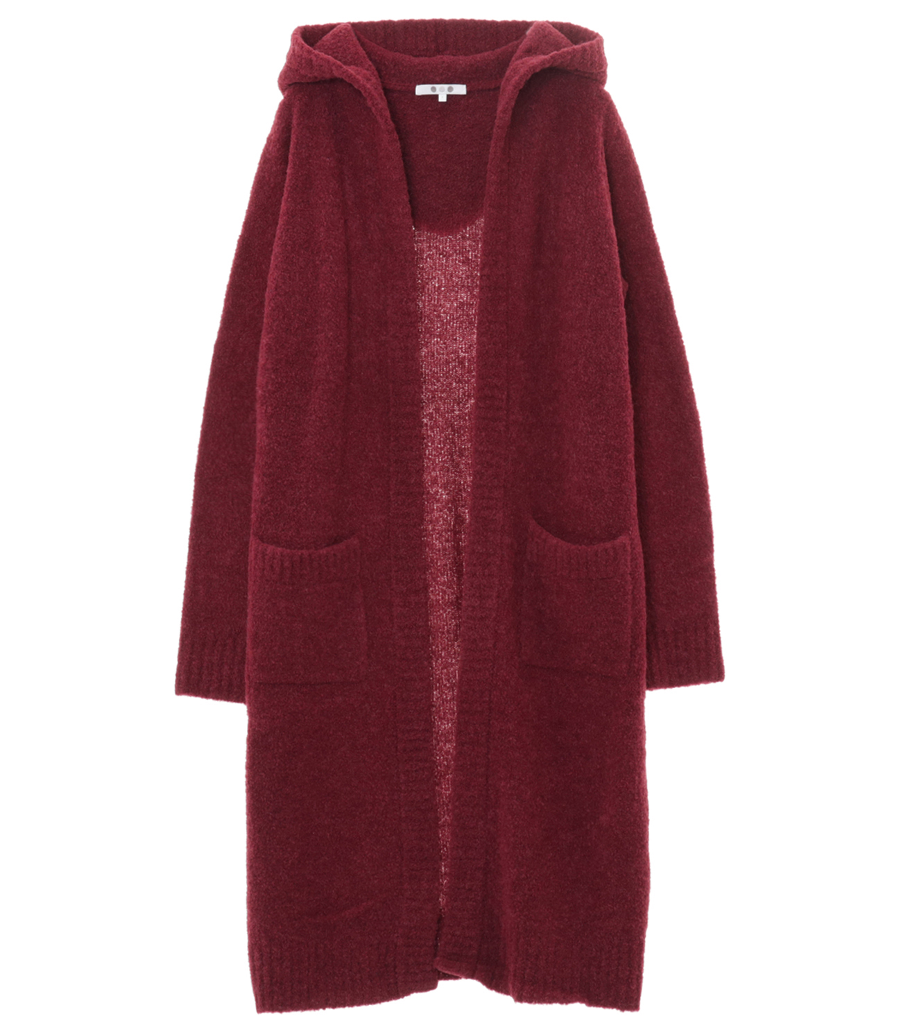 alpaca mixed boucle long cardy 詳細画像 burgandy 1