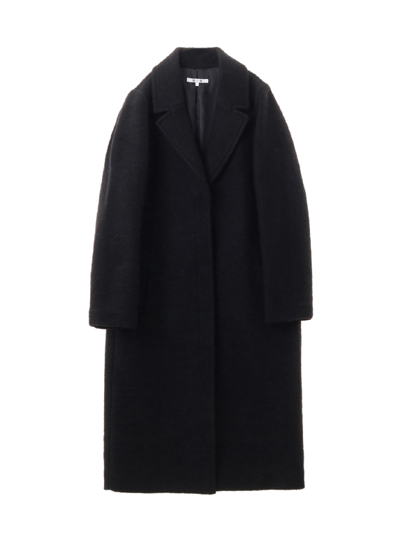 sliver knit chester coat