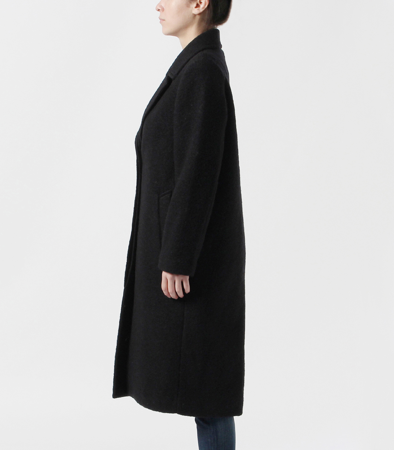 sliver knit chester coat 詳細画像 black 3
