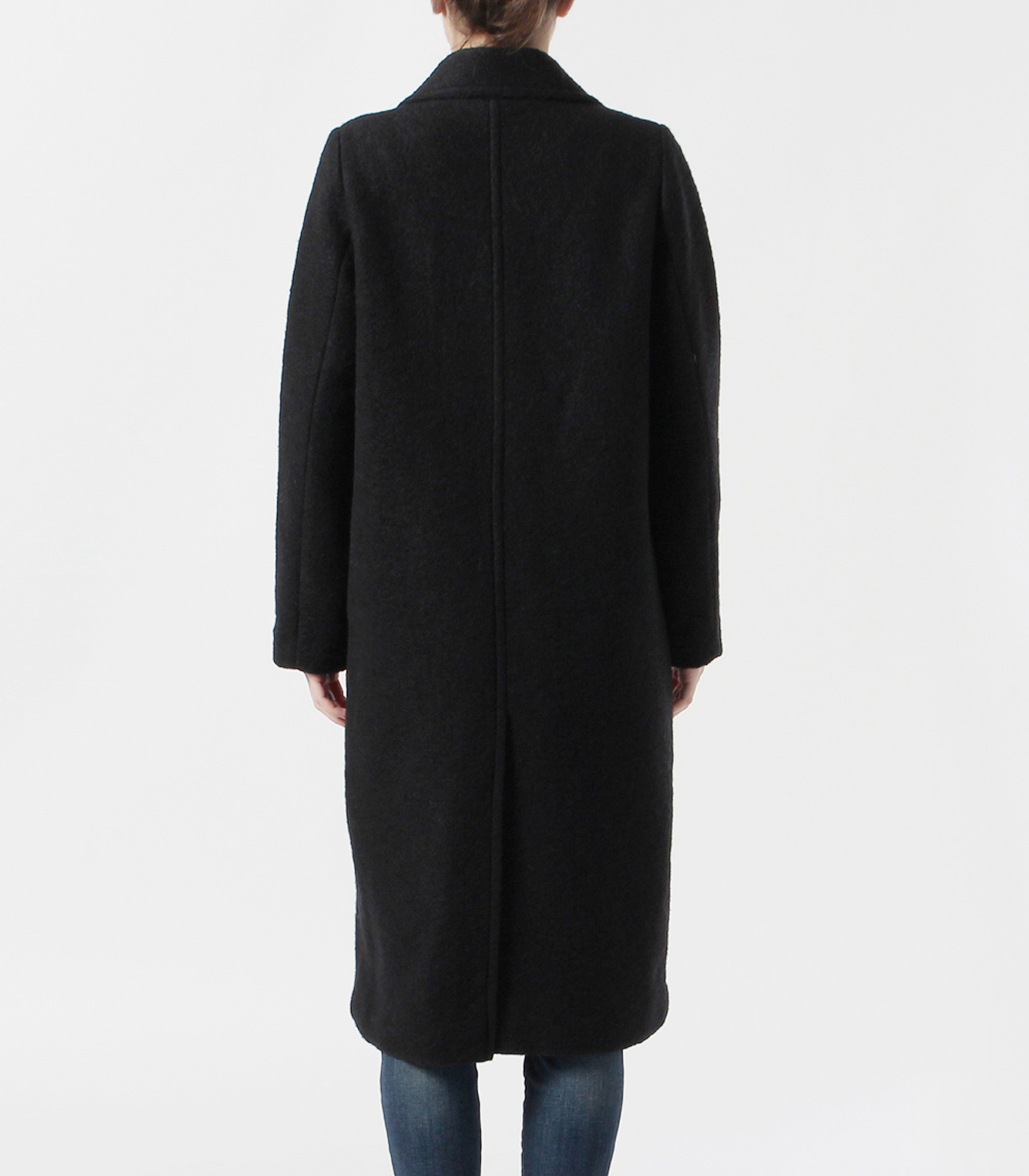 sliver knit chester coat 詳細画像 black 4