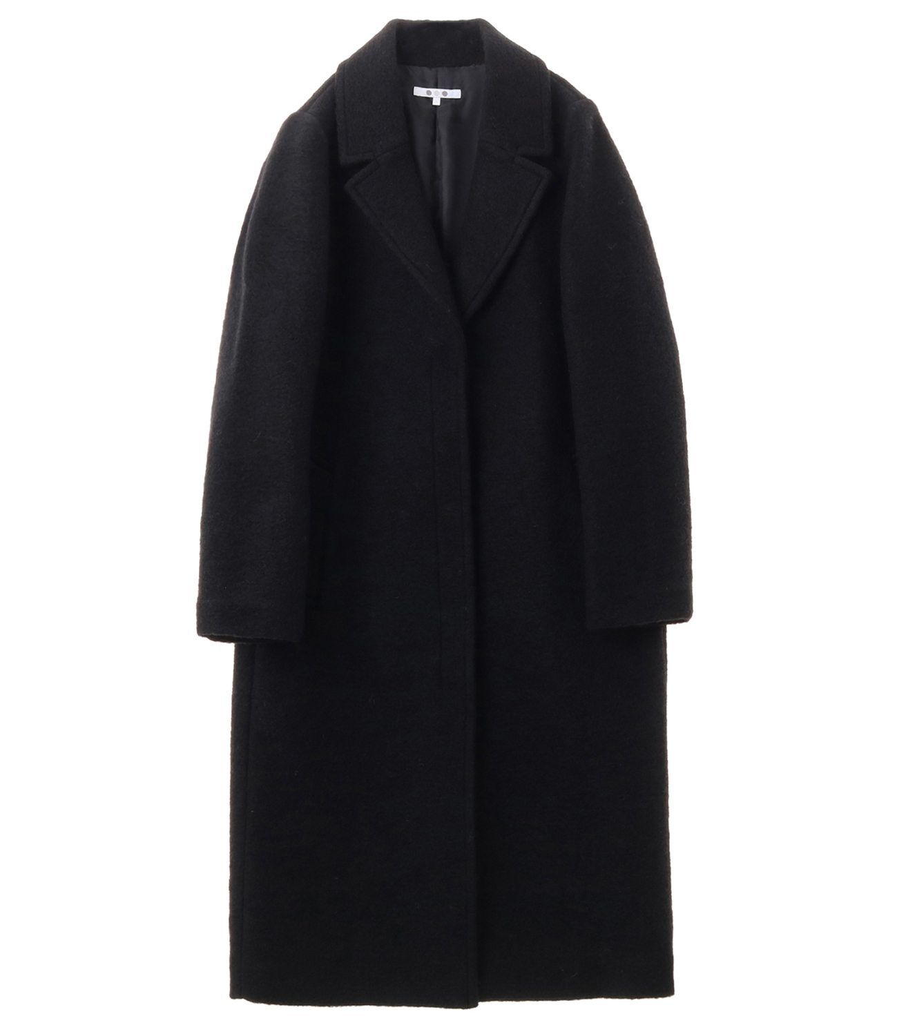 sliver knit chester coat 詳細画像 black 1