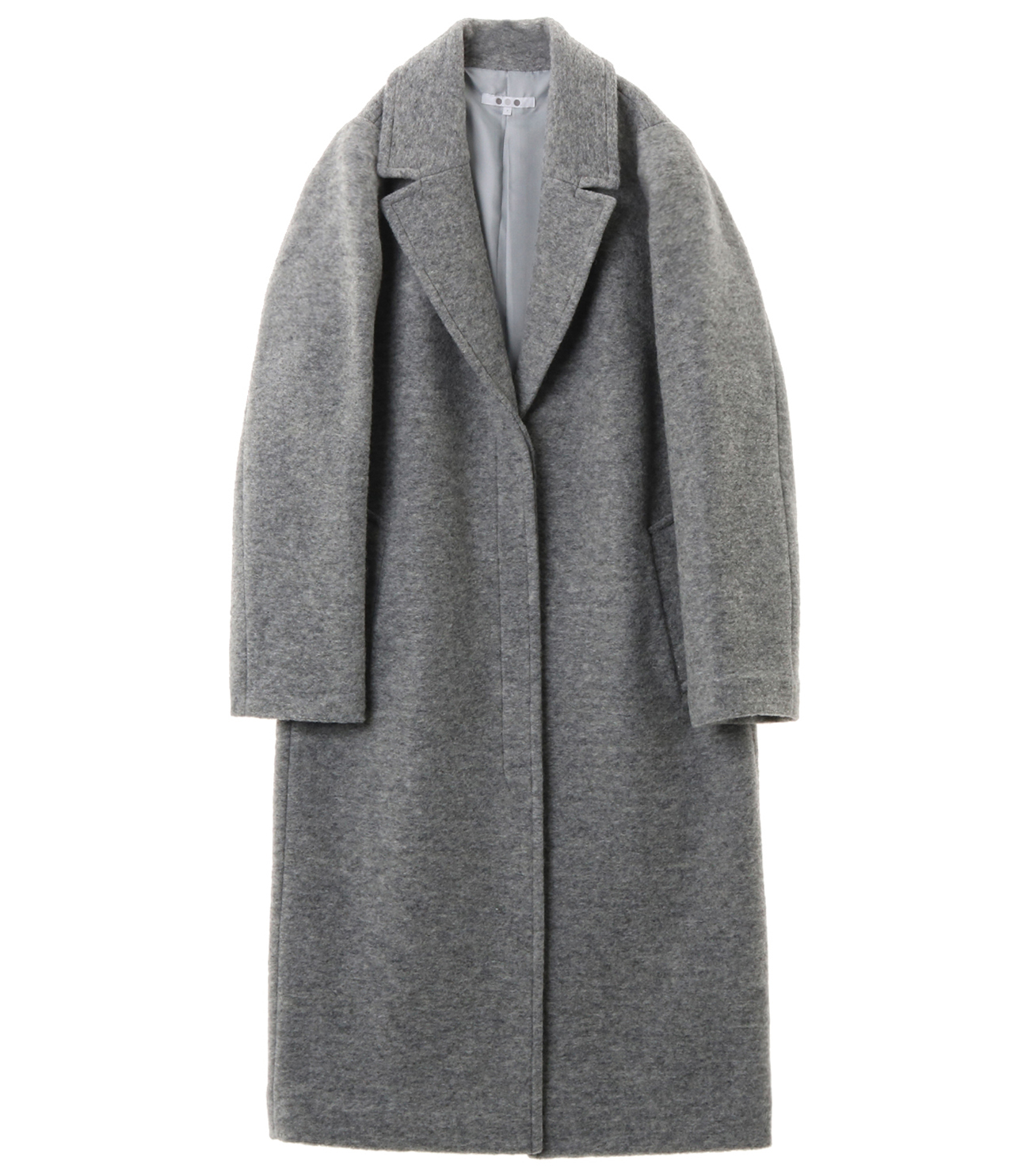 sliver knit chester coat 詳細画像 grey 1