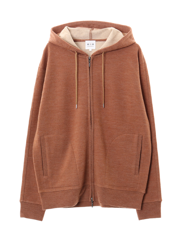 double face knit zip up hd