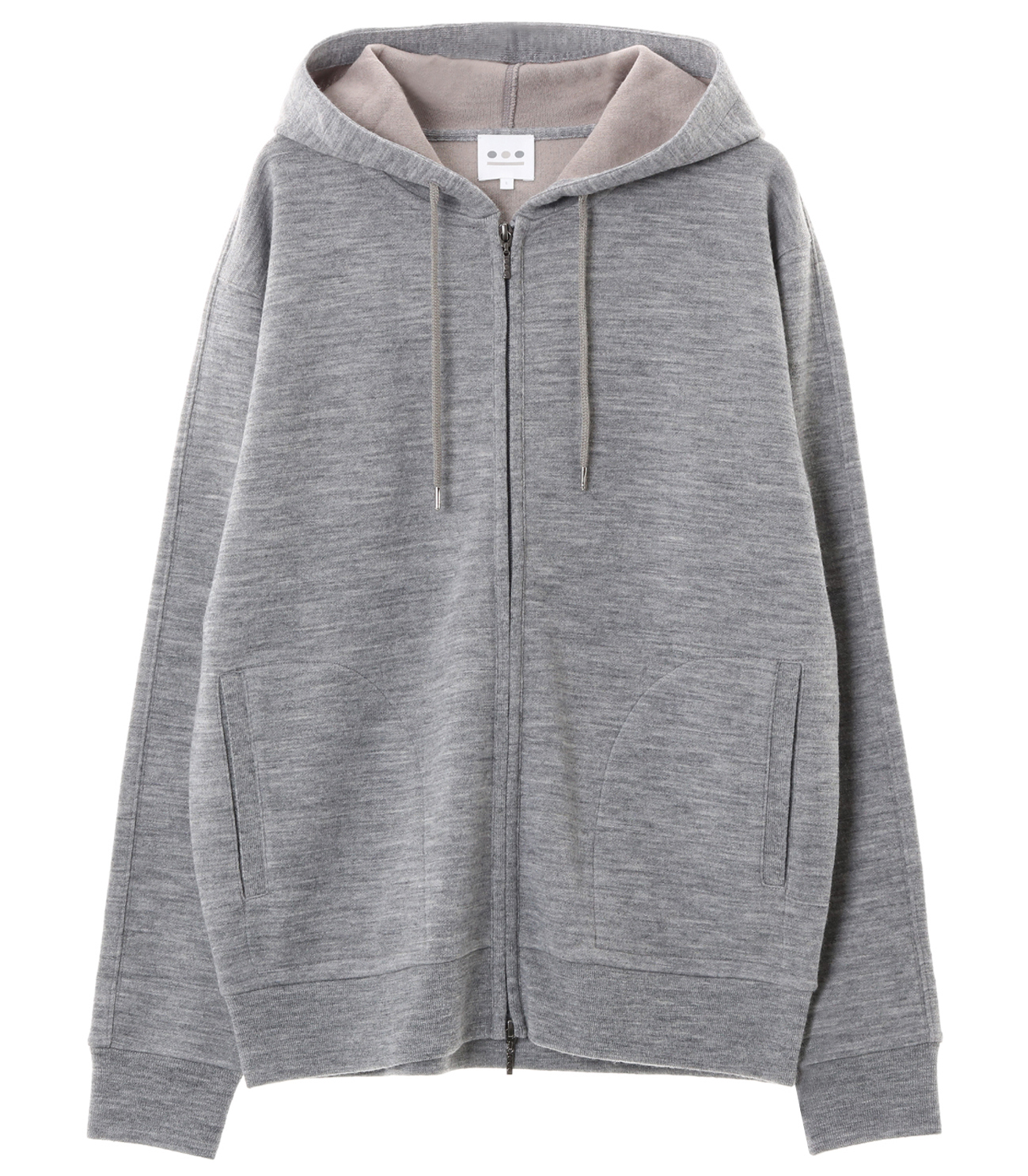 double face knit zip up hd 詳細画像 grey 1