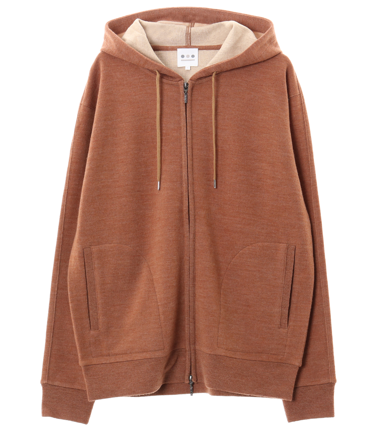 double face knit zip up hd 詳細画像 lt brown 1