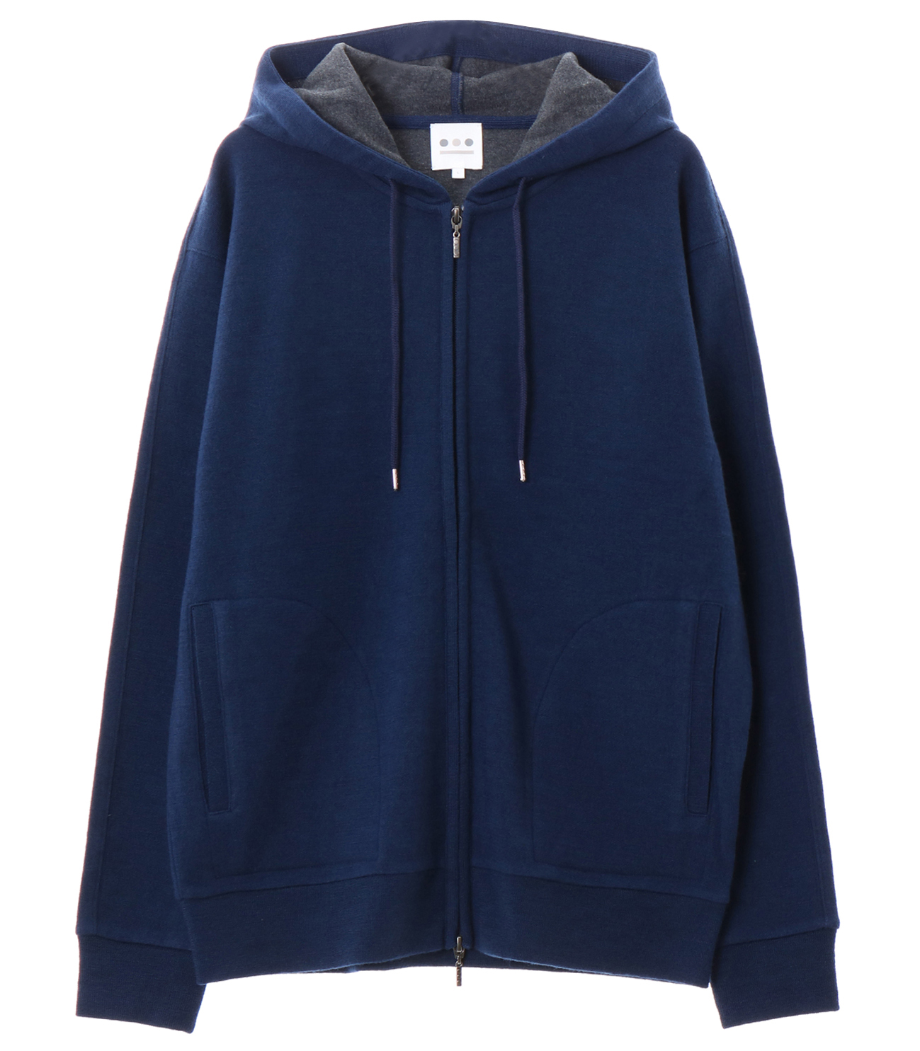 double face knit zip up hd 詳細画像 navy 1
