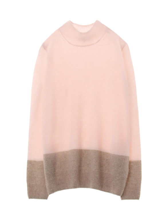 fluffy cashmere mockneck sweater