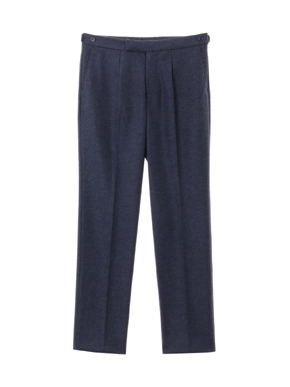 flannel smooth pleated pant 詳細画像