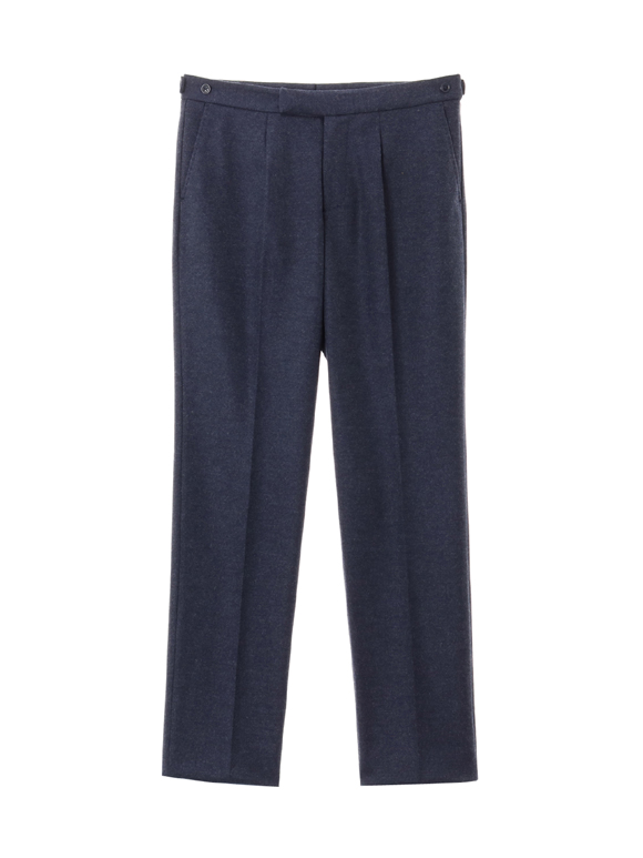 flannel smooth pleated pant