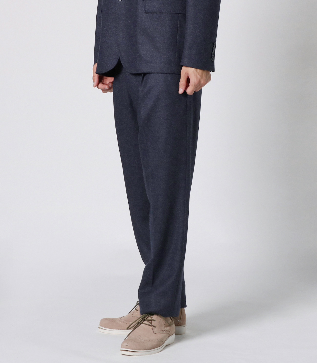 flannel smooth pleated pant 詳細画像 dark grey 6
