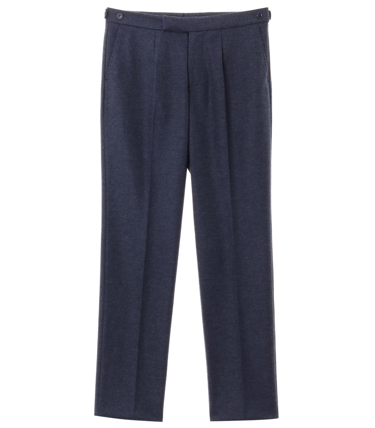 flannel smooth pleated pant 詳細画像 navy 1