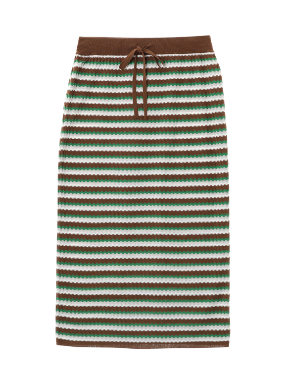 stretchsweater striped skirt