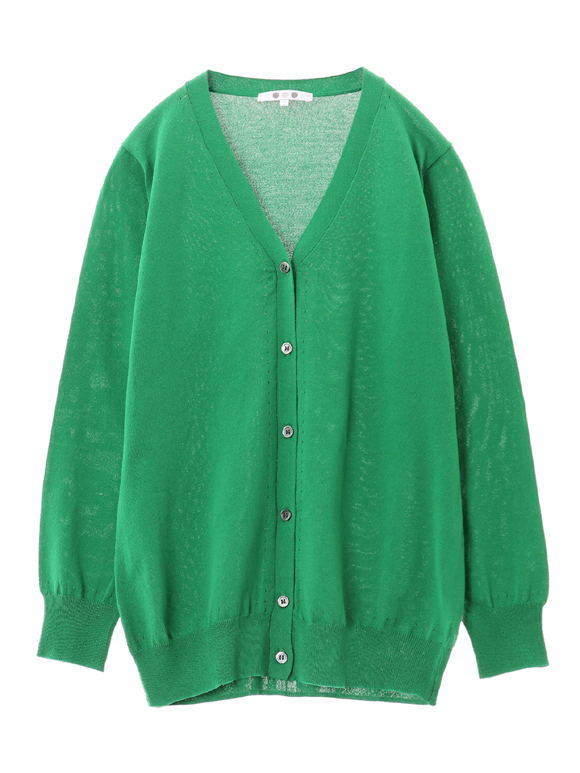 stretch sweater 3/4slv cardigan