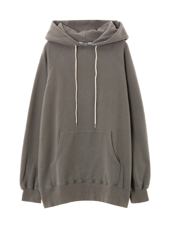 sueded terry oversized hoody puii over