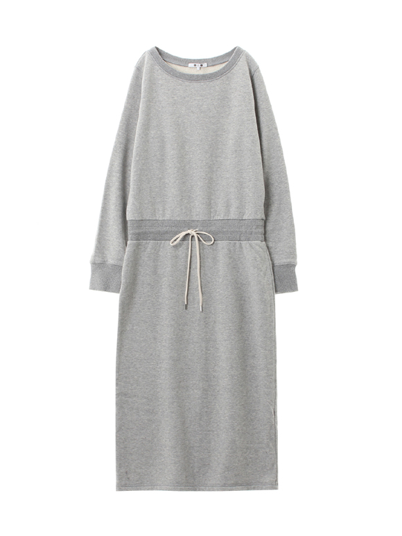 sueded terry dress