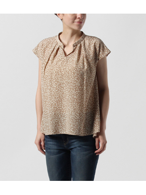 small leopard print french slv t 詳細画像
