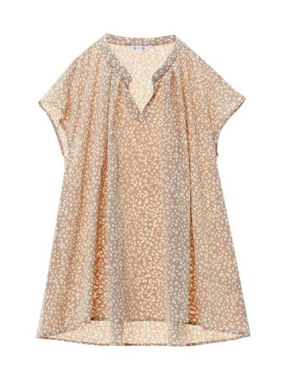 small leopard print french slv t