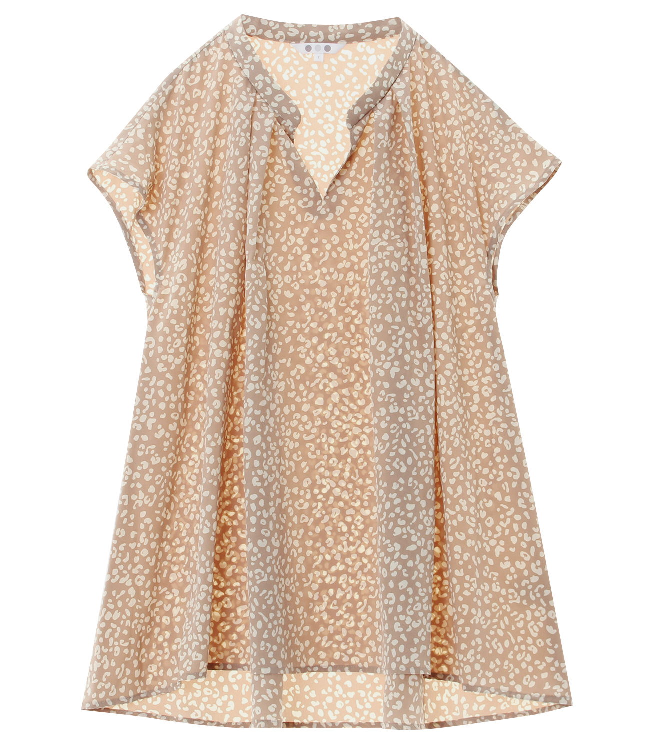 small leopard print french slv t 詳細画像 beige 1