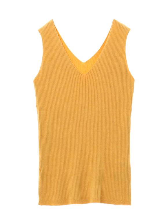 cotton melange rib tank