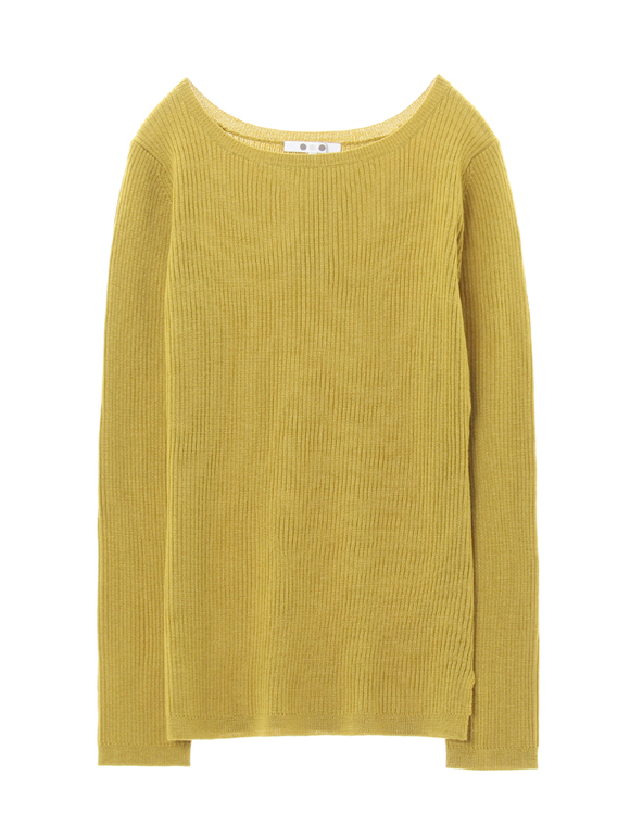 rib sweater l/s boat neck pull