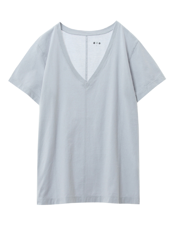 Supima jersey v-neck boy fit tee