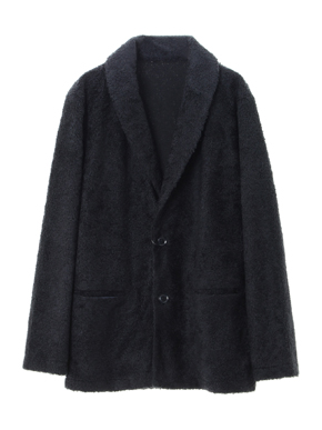 men's light boa shawl collar cardigan 詳細画像