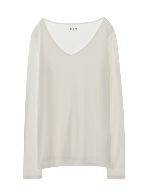 sustinable jersey vneck pullover