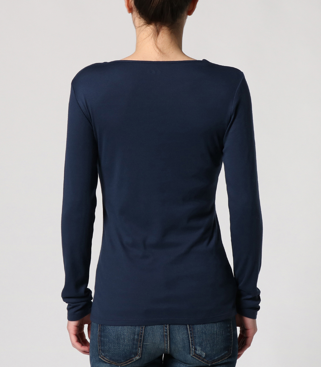 sustinable jersey l/s crewneck pullover 詳細画像 navy 4