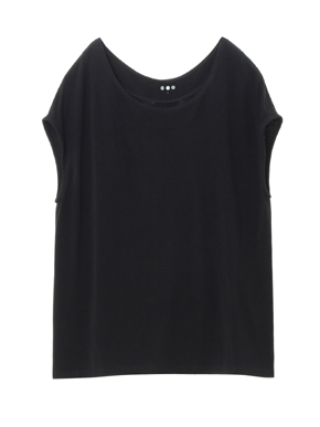 refined jersey top with back detall 詳細画像