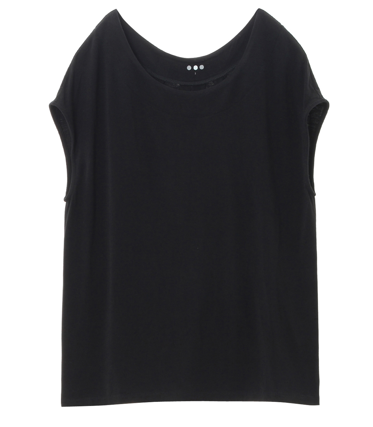 refined jersey top with back detall 詳細画像 black 1
