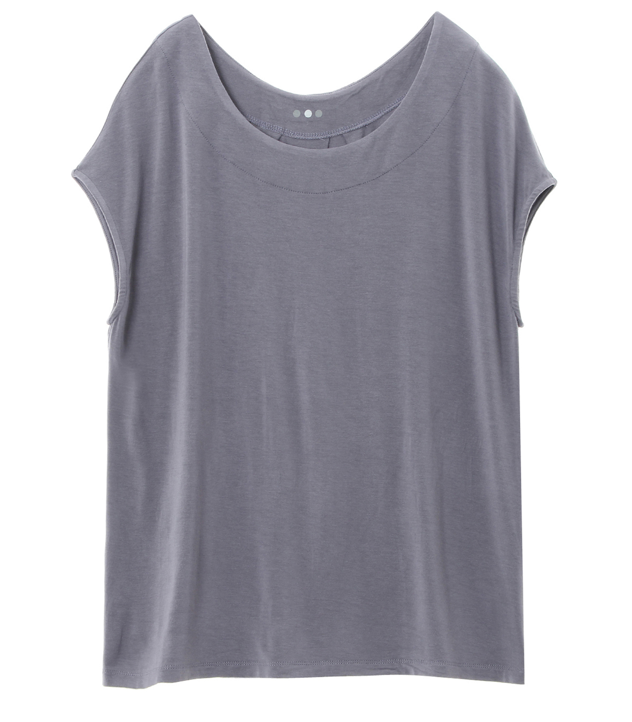 refined jersey top with back detall 詳細画像 blue grey 1