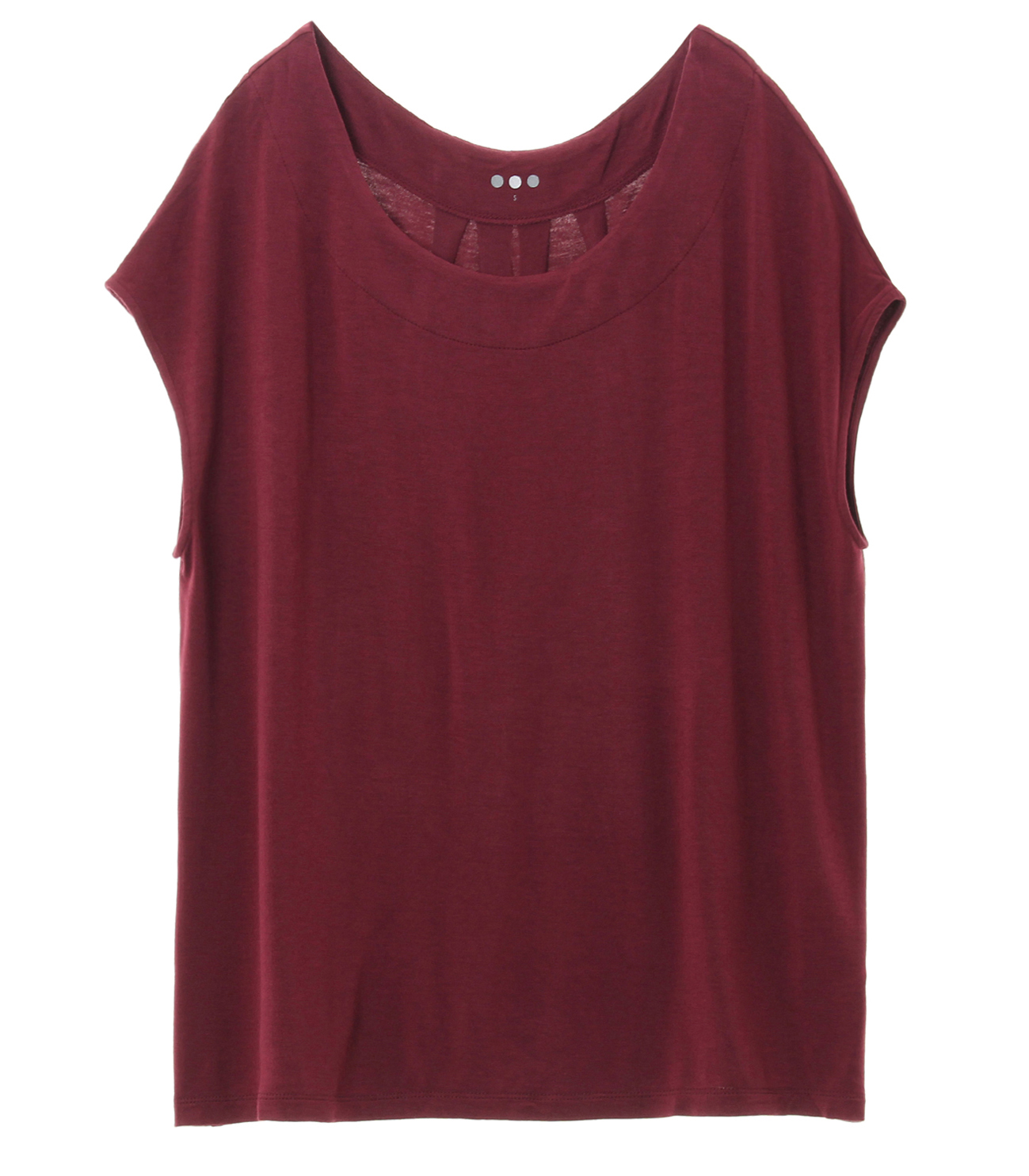 refined jersey top with back detall 詳細画像 port wine 1