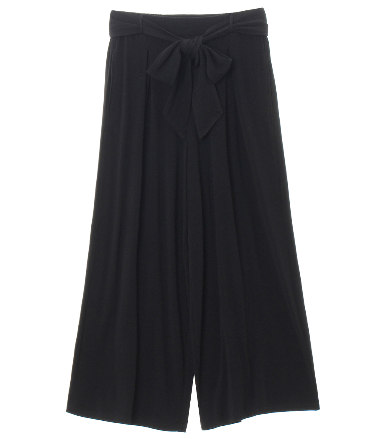 travel line tuck wide pant 詳細画像 black 1