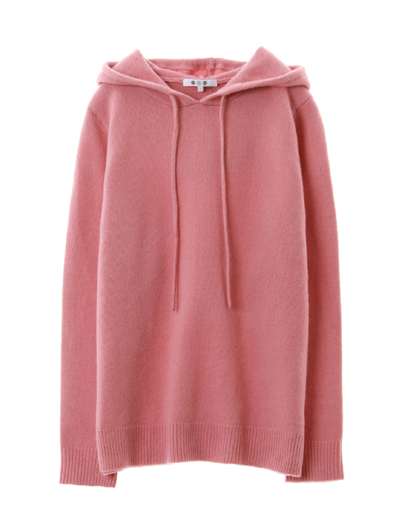 lt smooth wool hooded pullover