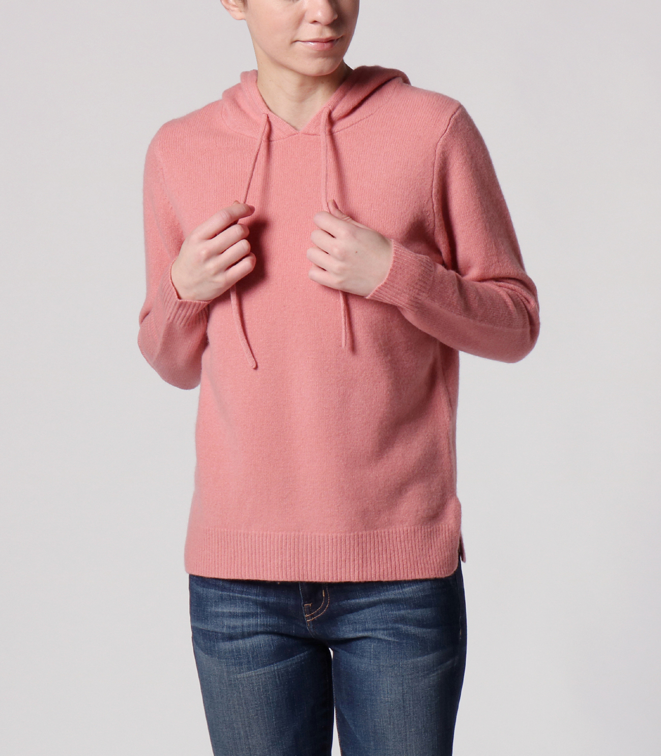 lt smooth wool hooded pullover 詳細画像 dusty rose 6