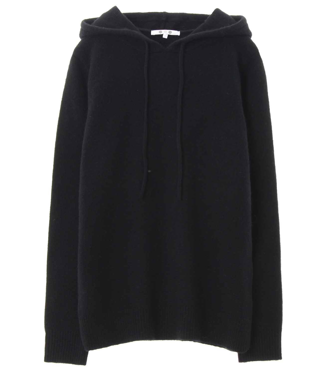 lt smooth wool hooded pullover 詳細画像 black 1