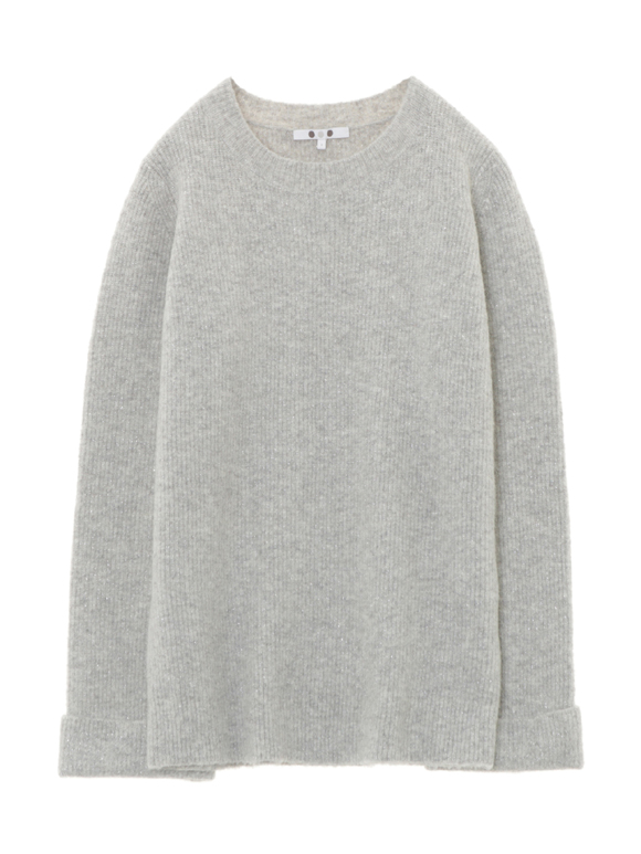 knit lame pull over