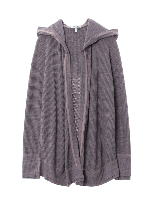 Chunky heather thermal cardigan