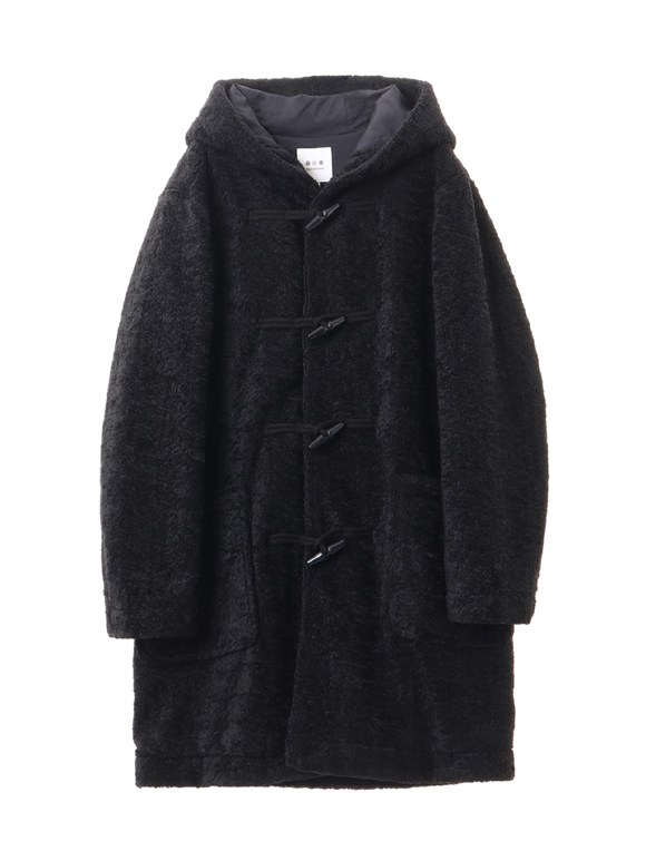 eco fur duffle coat