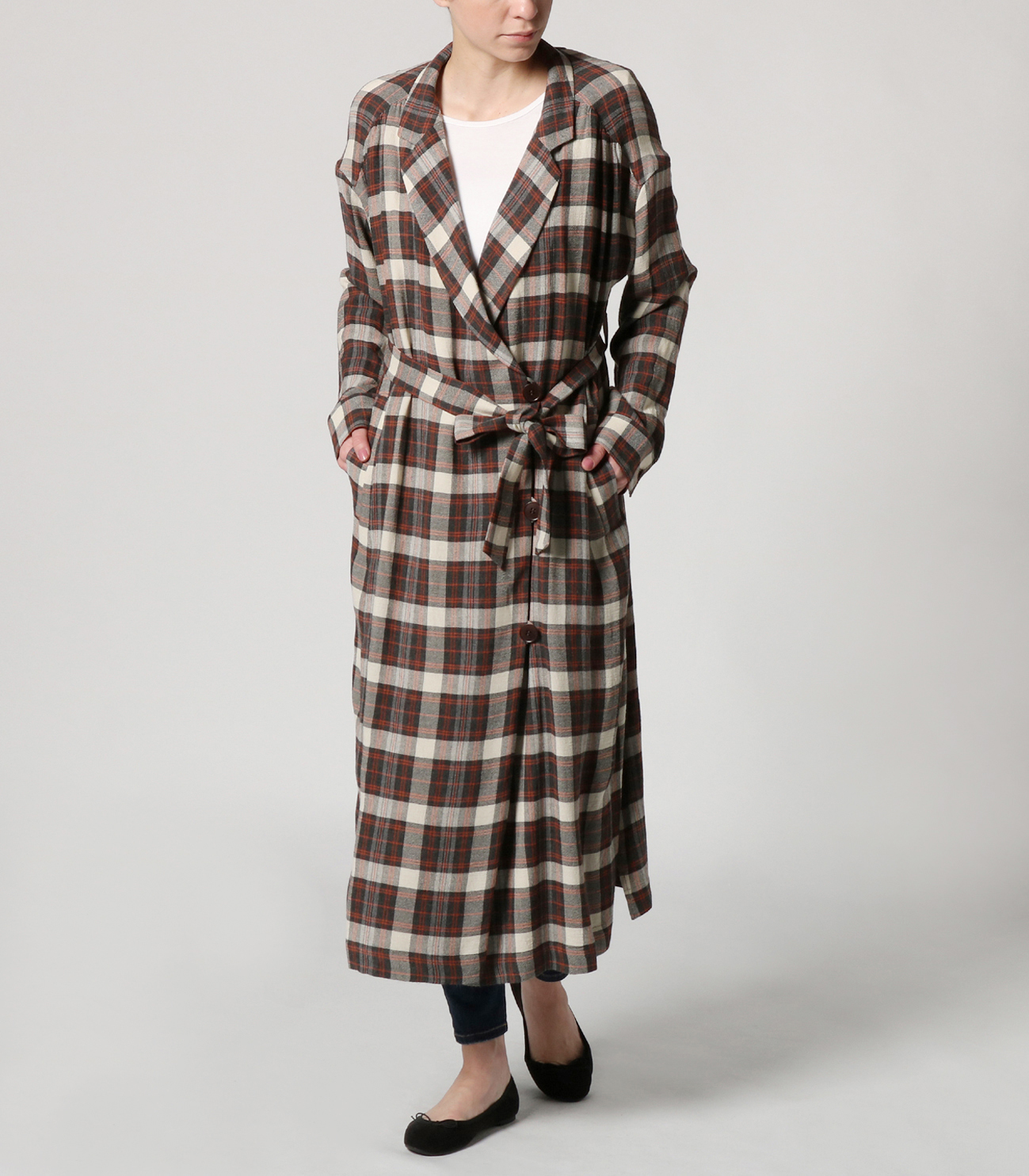 big plaid dress 詳細画像 grey 6