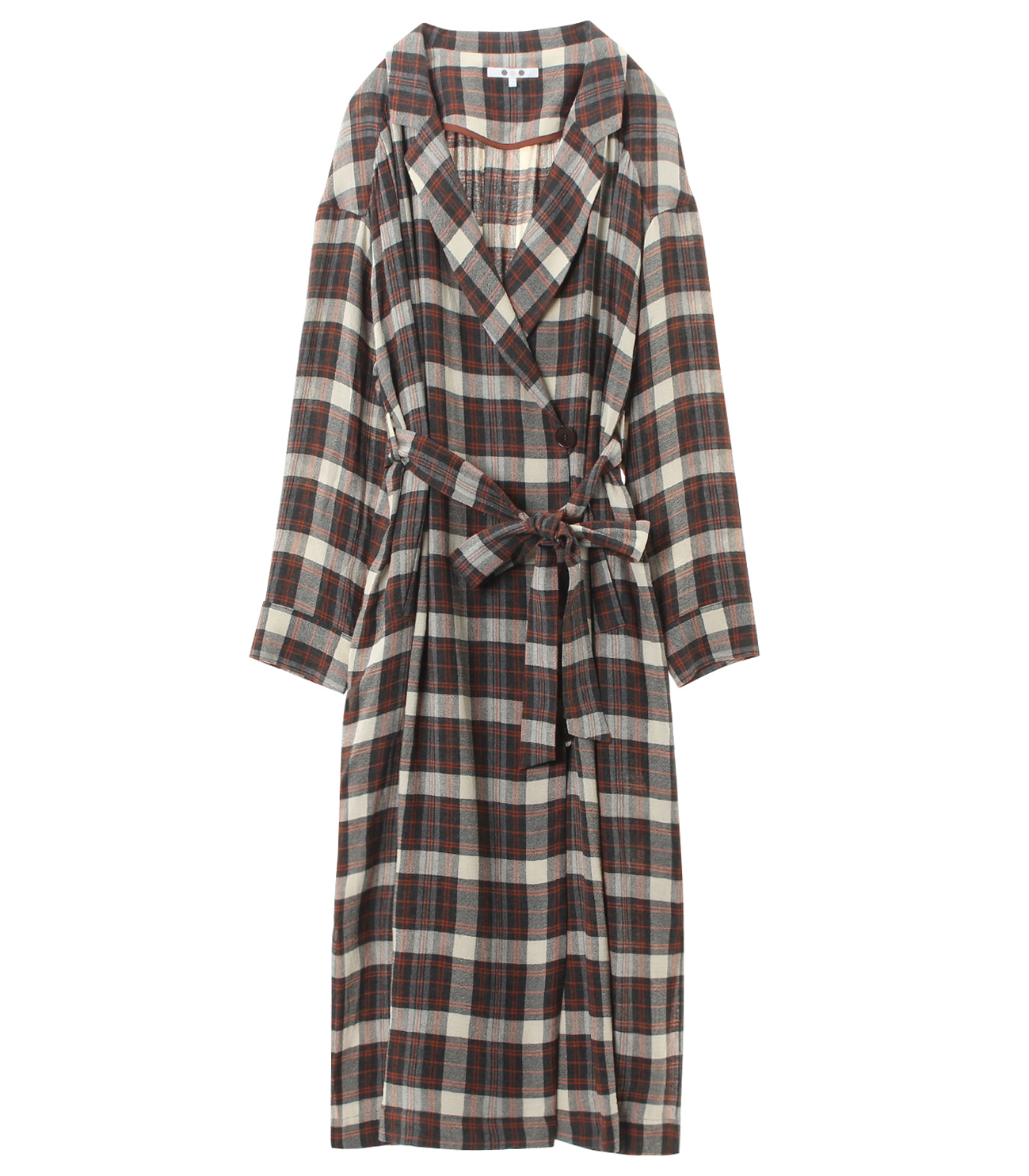 big plaid dress 詳細画像 grey 1