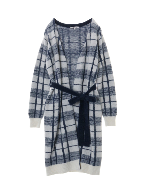 mohair mixed plaid l/s gaun