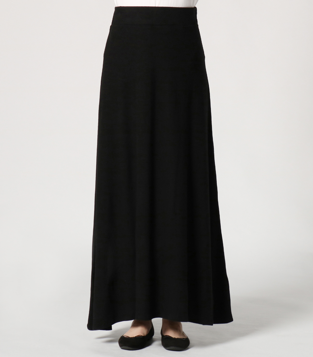 brushed sweater long skirt 詳細画像 black 2
