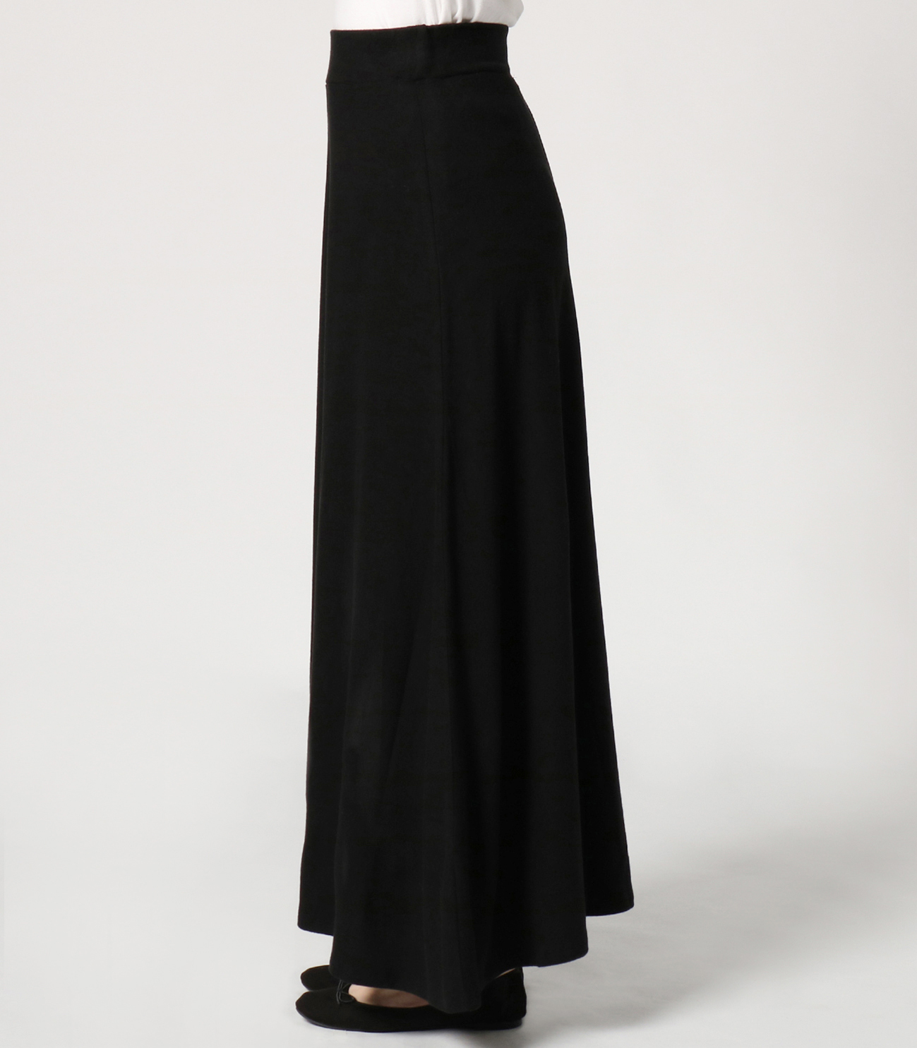 brushed sweater long skirt 詳細画像 black 3