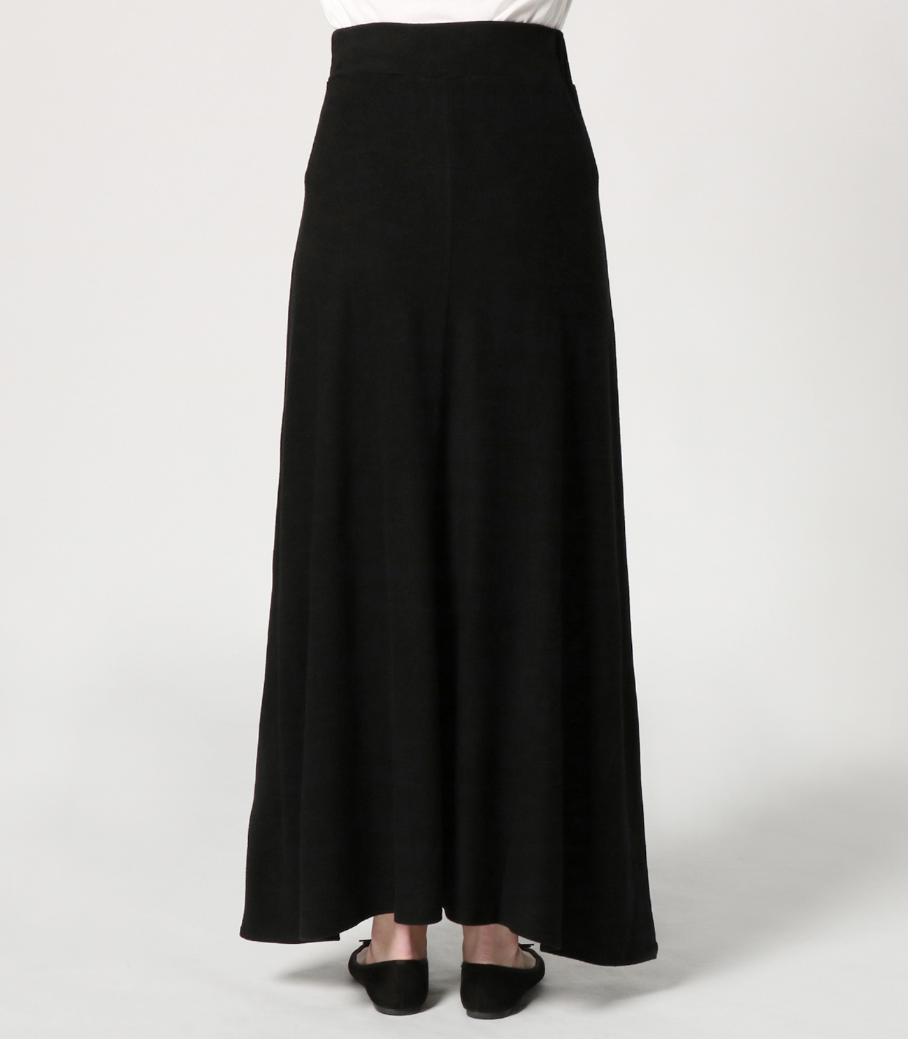 brushed sweater long skirt 詳細画像 black 4