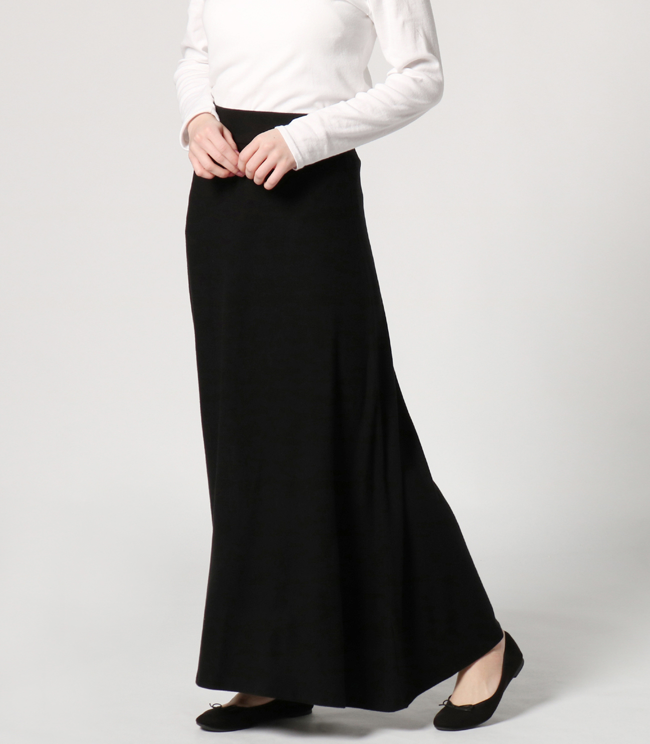 brushed sweater long skirt 詳細画像 black 6