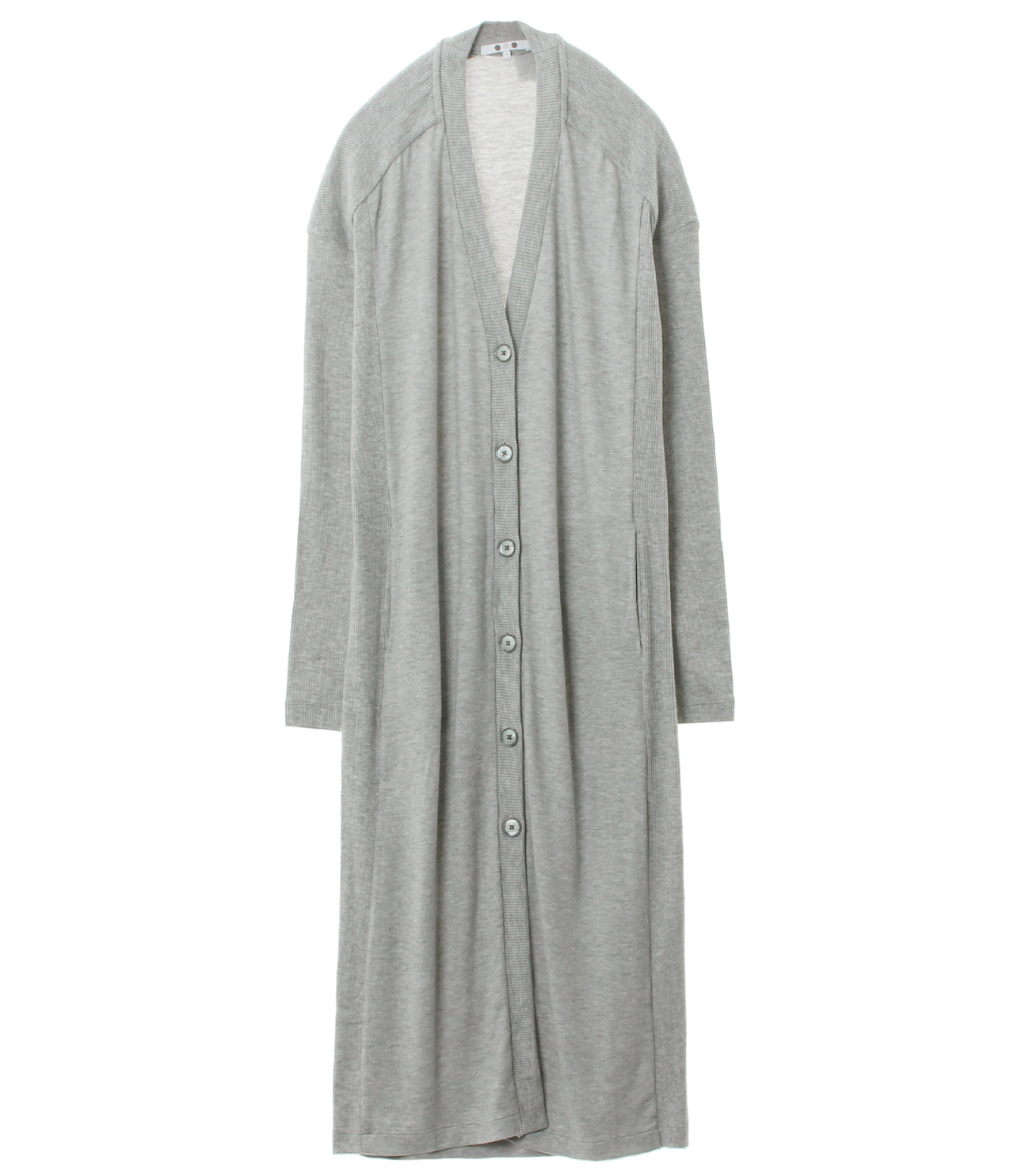 Brushed sweater long cardigan 詳細画像 heather grey 1