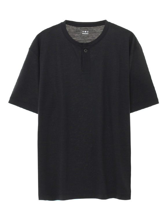 silkydry jersey s/s henley